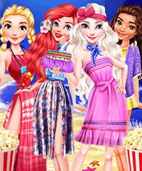 Disney Starry Night Dress Up Game