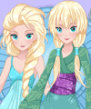 Elsa Manga Style Fashion Design Game