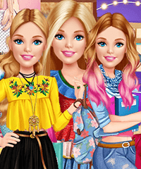 Barbie All Year Round Fashionista Dress Up Game