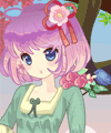 Spring Girl Anime Style Dress Up Game