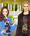 Dating in the Rain Dress Up Game