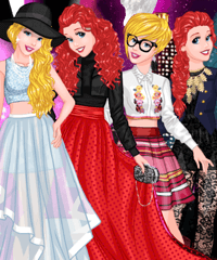 Princess Models at Milan Dress Up Game