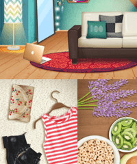 Dress up house decorating games
