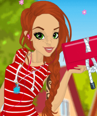 Summer Time with Emily Dress Up Game
