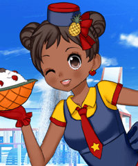 Summer Waitress Dress Up Game
