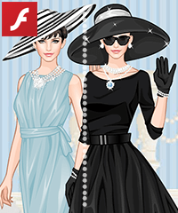 Audrey Hepburn Style Dress Up Game