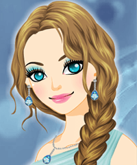 Elsa Braid Hairstyle Make Up Game