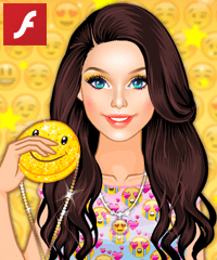 Barbie Emoji Crush Dress Up Game