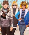 Winter Friends Dress Up Game