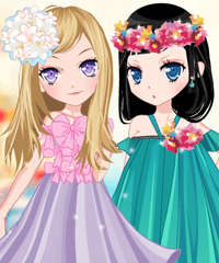 The Story of Flowering Dress Up Game