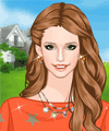 Soft Orange Dress Up Game