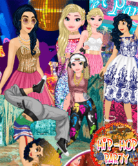 Princesses hit 3 Parties a Night Dress Up Game