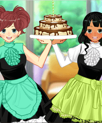 Anime Maid BFF Restaurant Dress Up
