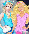 Elsa vs Barbie Fashion Contest Dress Up Game