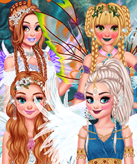 Princesses Enchanted Forest Ball Dress Up Game