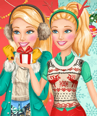 Barbie Coming Home for Christmas Dress Up Game