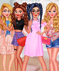 Princesses Spring Day Fashionistas Dress Up Game