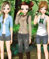 Girls on Safari Dress Up Game
