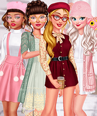 Happy Vibes Soft Girl Dress Up Game
