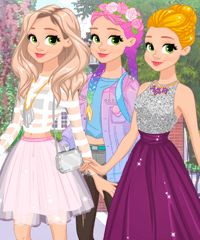Rapunzel Fashionista on the Go Dress Up Game