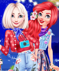Princess Bonfire Night Dress Up Game