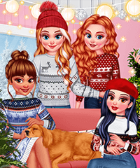 Staying Home Christmas Eve Dress Up Game