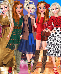 Frozen Sisters Shopping Eurotour Game
