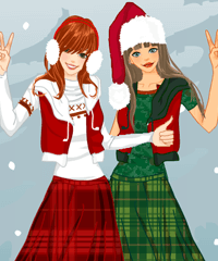 Christmas with BFF Dress Up Game