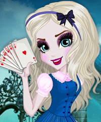 Elsa in Wonderland Dress Up Game