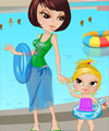 Mother and Daughter Waterpark Dress Up Game