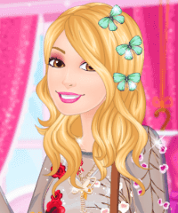 Barbie Butterfly Diva Dress Up Game
