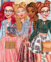 Princesses Floral Spring Dress Up Game