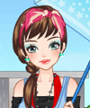Girl in Rain Dress Up Game