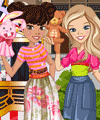 Zoe and Lily Puppet Festival Dress Up Game