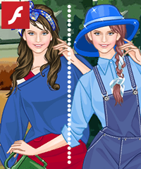 Watering Flowers Dress Up Game