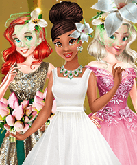 Tiana Spring Green Wedding Dress Up Game