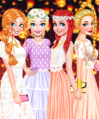 Princesses Light Festival Dress Up Game