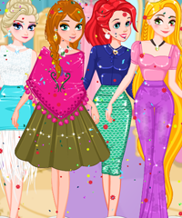 Princesses Back in Time Dress Up Game