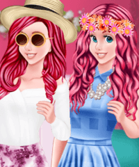 Ariel Spring Color Combos Dress Up Game