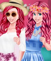 Ariel Spring Color Combos Dress Up Game