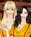 2 Broke Girls TV Fashion Dress Up Game