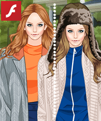 Coats and Tights Dress Up Game