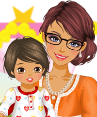 Stylish Mom and Baby Girl Dress Up Game
