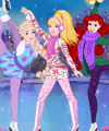 Barbie Skating with Disney Princesses Dress Up Game