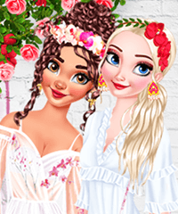 BFFs Stylish Orchids Dress Up Game