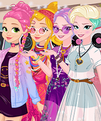Disney Princesses Boho vs Edgy Dress Up Game