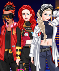 Hack to the Future Dress Up Game