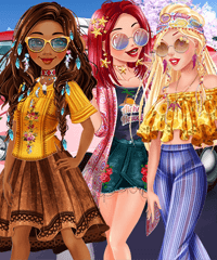 Hippie Weekend Dress Up Game
