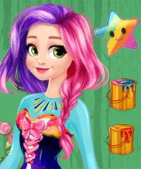 Rapunzel Design Your Own Rainbow Dress Game