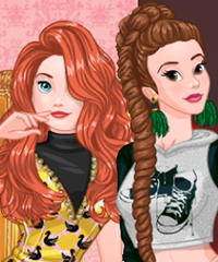 Princesses Fashion Wars Boho vs Hip-Hop and Gowns vs Cocktail Dresses Game